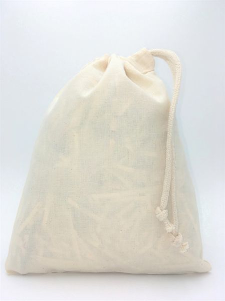 Calico Cotton Drawstring Bags, 14cm x 20cm Strong Bags with a Rope Style  Closure, FREE UK POSTAGE on orders over £3 50