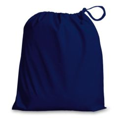 Drawstring Bags in Polycotton 46cm x 60cm Navy Blue, matching fabric drawstring closure, 46 colours plus 9 sizes, FREE UK POSTAGE on orders over £5.00