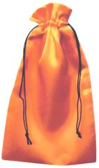 Satin Drawstring Bags in Gold with Black Cord Closure, 9cm x 18cm, FREE UK POSTAGE orders over £5.00