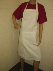 Plain Traditional Style Aprons in Adult White all have pockets, Choice of colour, Adults all '1 size', FREE UK POST on orders over £5.00