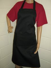 Plain Traditional Style EMBROIDERED (up to 21 letters/spaces) Aprons in Adult, Black all have pockets, Choice of colour, Adults all '1 size', FREE UK POST on orders over £5.00