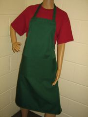 Plain Traditional Style EMBROIDERED (up to 21 letters/spaces) Aprons in Adult, Bottle Green all have pockets, Choice of colour, Adults all '1 size', FREE UK POST on orders over £5.00