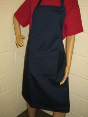 Plain Traditional Style EMBROIDERED (up to 21 letters/spaces) Aprons in Adult, Navy all have pockets, Choice of colour, Adults all '1 size', FREE UK POST on orders over £5.00