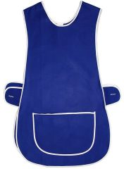 Tabards in 65%polyester/35% Cotton, Plain Royal Blue Size 24-26/XXOS WITH WHITE TRIM, large pocket, side adjustment, choice of colour and size, FREE UK POST AND PACKING, Only £5.99 each,