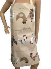 Adult's ''Chicken'' design. 'Easy Wipe Clean' pvc aprons, full size traditional bib aprons, FREE UK POST AND PACKING