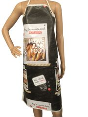 Adult ''Burger'' design. 'Easy Wipe Clean' pvc aprons, full size traditional bib aprons, FREE UK POST AND PACKING