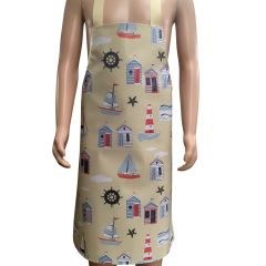 Children's 'Beach Hut' Easy Wipe Clean PVC aprons, 7-10 year old, FREE UK POSTAGE