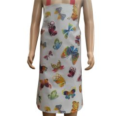 Children's 'Butterflies' Easy Wipe Clean PVC aprons, 7-10 year old, FREE UK POSTAGE