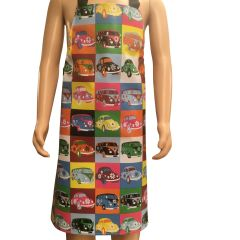 Children's 'Camper Van' Easy Wipe Clean PVC aprons, 7-10 year old, FREE UK POSTAGE
