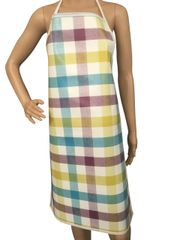 Adults ''Checker'' design. 'Easy Wipe Clean' pvc aprons, full size traditional bib aprons, FREE UK POST AND PACKING