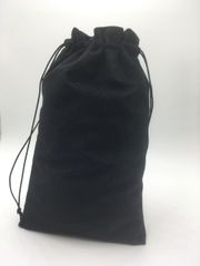 Velvet (cotton) Black Drawstring Bags 7cm x 11cm, Choice of 4 sizes and 8 colours, suitable as Favor Bags, Gift Bags, Party Bags, Jewelry and many other uses. FREE UK POSTAGE