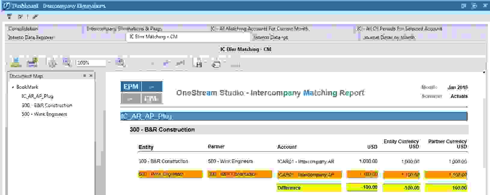 EPMCPA OneStream Intercompany Matching