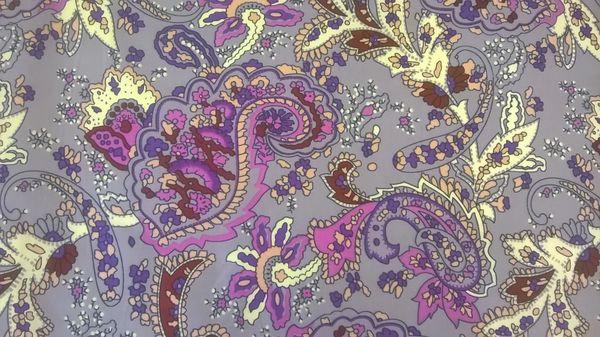 Freedom Print Purple and Mauve