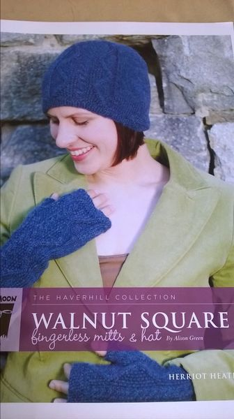 Walnut Square Fingerless Mitts and Hat