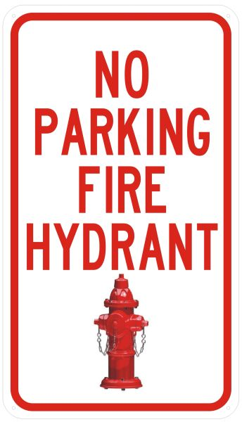 Dob Sign No Parking Fire Hydrant Sign Sturdy Hpd