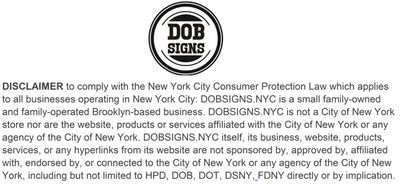 DOB SIGNS NYC- THE OFFICIAL SITE