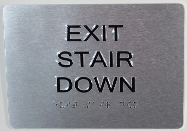 Hpd Signs Exit Stair Down Sign Dob Signs Nyc Your Official Store For Nyc Dob Signage