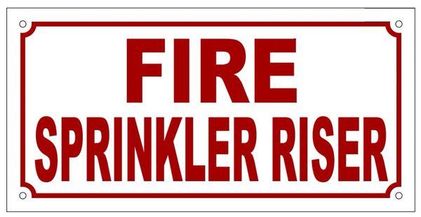 Sprinkler Sign Fire Sprinkler Riser Sign Aluminum Sign