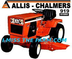 ALLIS CHALMERS 919 HYDRO HOODED SWEATSHIRT