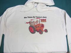 "MINNEAPOLIS MOLINE ""SHE THINKS MY TRACTOR'S SEXY"" (image #1) HOODED SWEATSHIRT"