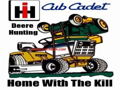 """CUB CADET DEERE HUNTING """"HOME WITH THE KILL"""" MOUSEPAD"""