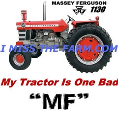 "MASSEY FERGUSON 1130 ""MY TRACTOR IS ONE BAD MF"" HOODED SWEATSHIRT"