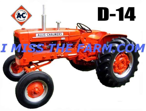 ALLIS CHALMERS D14 HOODED SWEATSHIRT