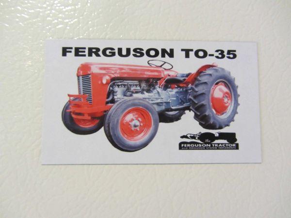 FERGUSON T0-35 (RED) Fridge/toolbox magnet