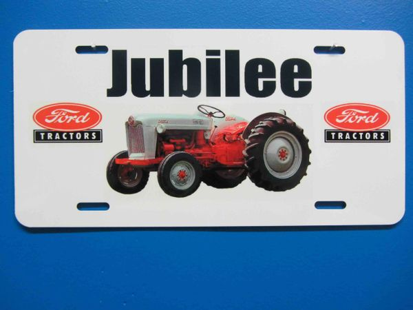 FORD JUBILEE LICENSE PLATE
