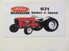 FORD 671 Fridge/toolbox magnet