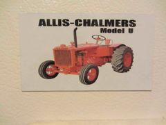 ALLIS CHALMERS U Fridge/toolbox magnet