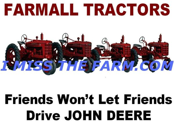 "FARMALL ""FRIENDS WON'T LET FRIENDS DRIVE JOHN DEERE"" HOODED SWEATSHIRT"