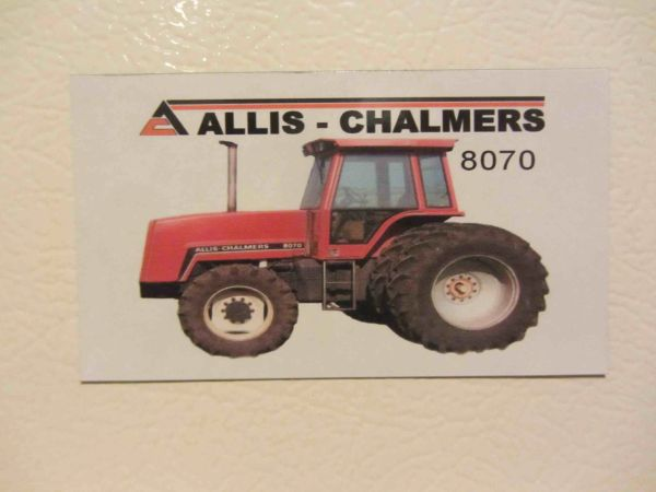 ALLIS CHALMERS 8070 4X4 W/DUALS Fridge/toolbox magnet