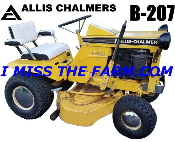ALLIS CHALMERS B207 (with mower deck) TEE SHIRT