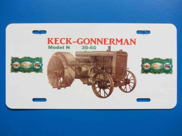 KECK GONNERMAN MODEL N LICENSE PLATE