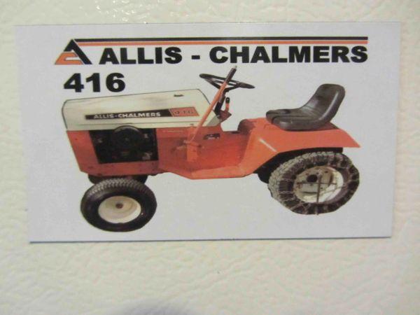 ALLIS CHALMERS 416 Fridge/toolbox magnet