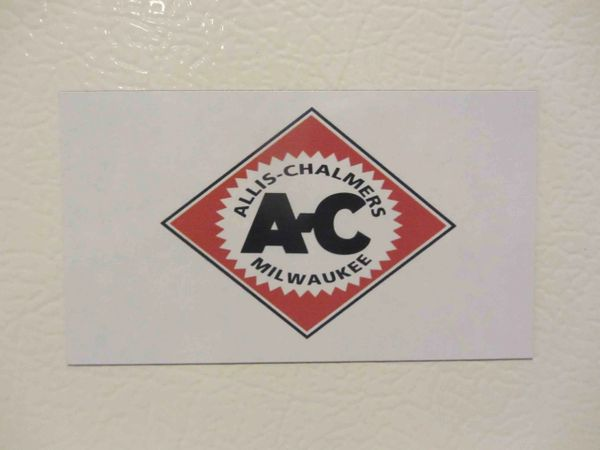 ALLIS CHALMERS DIAMOND LOGO Fridge/toolbox magnet