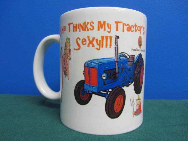"FORDSON MAJOR ""SHE THINKS MY TRACTOR'S SEXY"" COFFEE MUG"