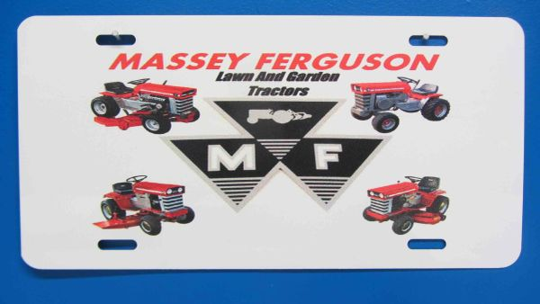 MASSEY FERGUSON LAWN AND GARDEN TRACTORS LICENSE PLATE