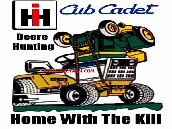 "CUB CADET Deere Hunting ""home with the kill"" TRAVEL MUG"
