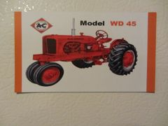 ALLIS CHALMERS WD45 NF Fridge/toolbox magnet