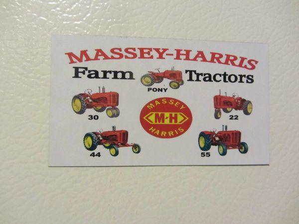 MASSEY HARRIS FARM TRACTORS Fridge/toolbox magnet