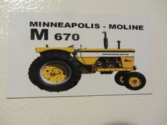 MINNEAPOLIS MOLINE M670 Fridge/toolbox magnet