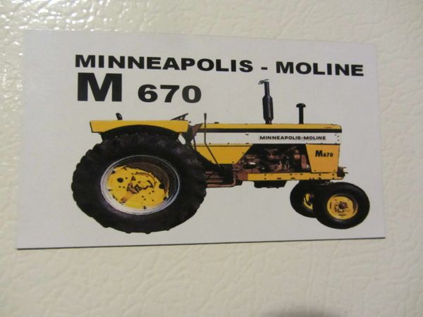 MINNEAPOLIS MOLINE A4T 1600 Fridge/toolbox magnet