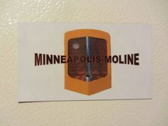 MINNEAPOLIS MOLINE GRILL Fridge/toolbox magnet