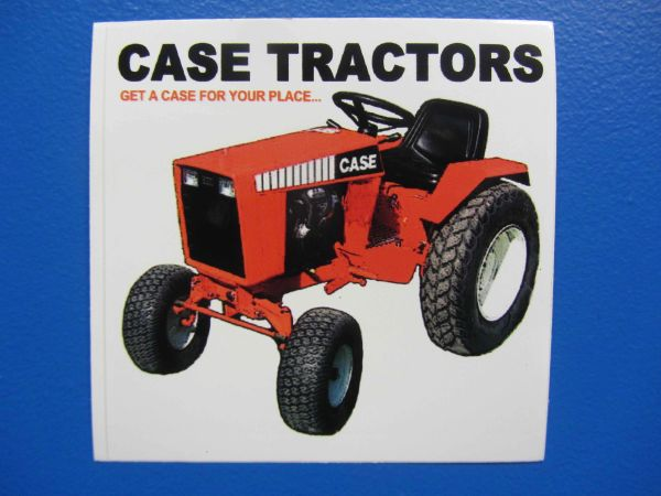 "CASE TRACTORS ""GET A CASE FOR YOUR PLACE"" Bumper sticker"