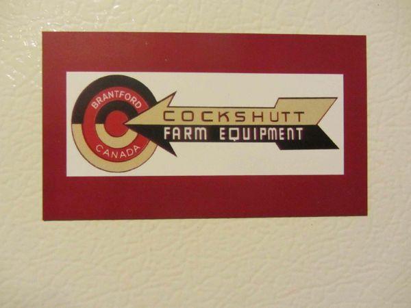 COCKSHUTT FARM EQUIPMENT LOGO Fridge/toolbox magnet