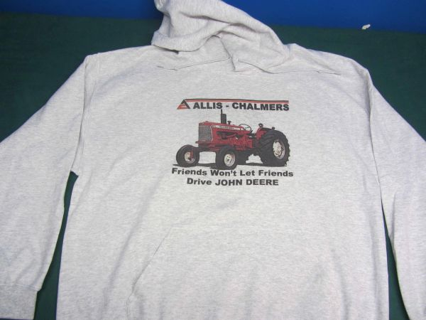 "ALLIS CHALMERS D17 ""FRIENDS WON'T LET FRIENDS DRIVE JD"" HOODED SWEATSHIRT"