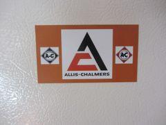 ALLIS CHALMERS LOGOS Fridge/toolbox magnet
