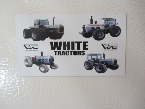 WHITE FARM TRACTORS Fridge/toolbox magnet